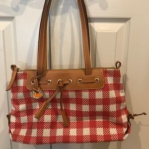 Dooney & Bourke Red & White Checker Purse